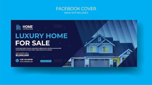 Modello di banner post copertina di social media immobiliare