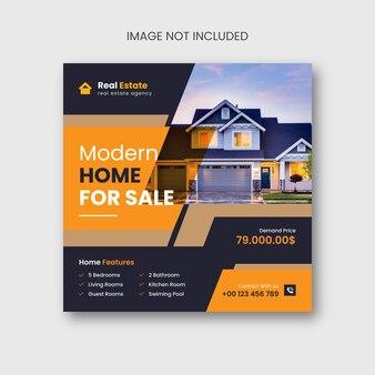 Social media immobiliare o design di post di instagram