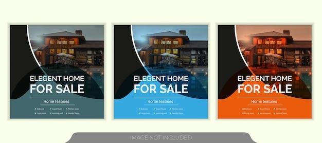 Modello di post instagram social media immobiliare