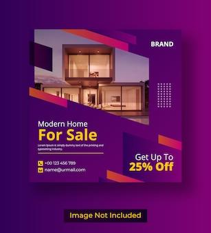 Post di instagram dei social media immobiliari Vettore Premium
