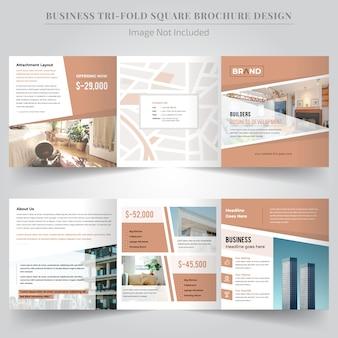 Brochure trifold square immobiliare