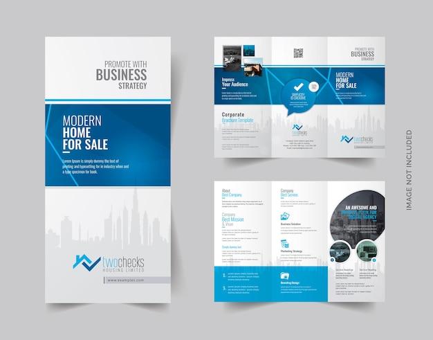 Brochure a tre ante immobiliari