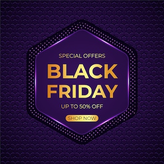 Fondo realistico di vendita di venerdì nero 3d