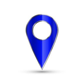 Puntatore 3d realistico della mappa.