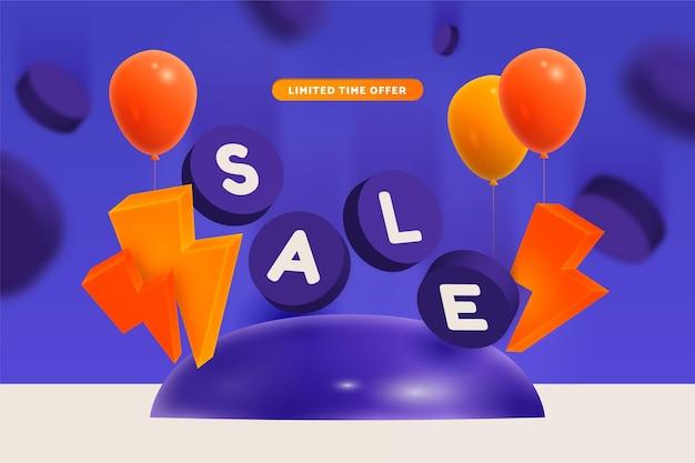 Sfondo di vendita 3d realistico
