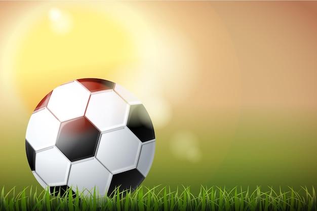 Sfondo di calcio astratto realistico