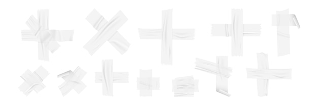 Set di nastri adesivi realistici.