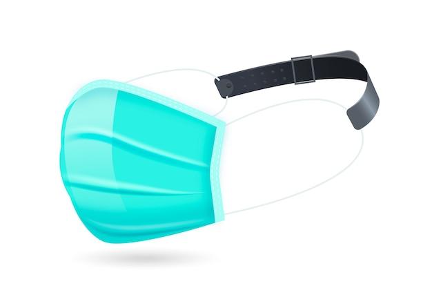 Cinturino per maschera facciale regolabile realistico