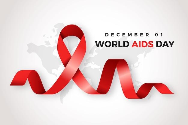 Fondo realistico del nastro di giorno di aids