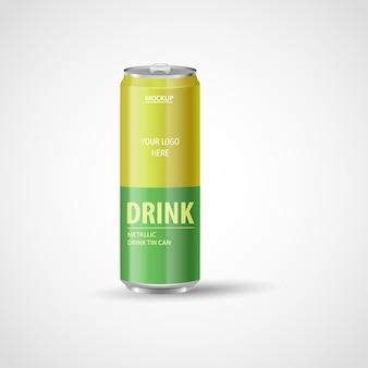 Lattine di alluminio realistiche lattine metalliche per bevanda energetica con succo di limonata, soda, birra
