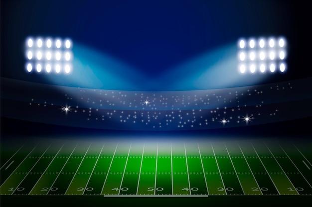 Stadio di calcio americano realistico