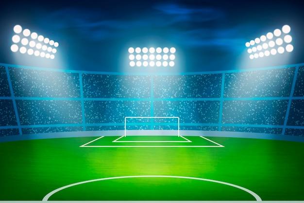 Stadio di football americano realistico