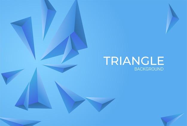 Sfondo realistico con triangoli blu Vettore Premium