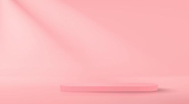 Sfondo realistico con podio vuoto per dimostrazione del prodotto