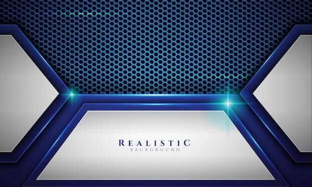 Sfondo realistico con luce stellare in colore blu e bianco