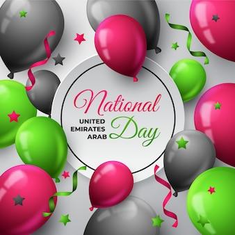 Palloncini realistici giornata nazionale degli emirati arabi uniti
