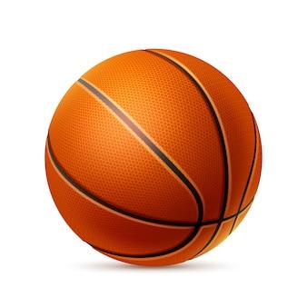 Pallone da basket realistico. vettore elemento di attrezzature atletiche