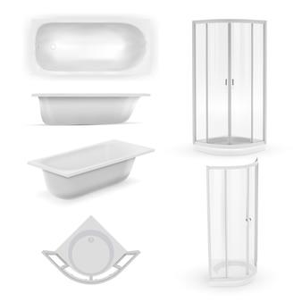 Illustrazione realistica della vasca da bagno