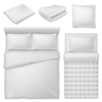 Illustrazione realistica del design della biancheria da letto