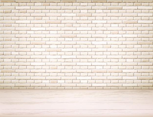 Muro di mattoni beige realistico