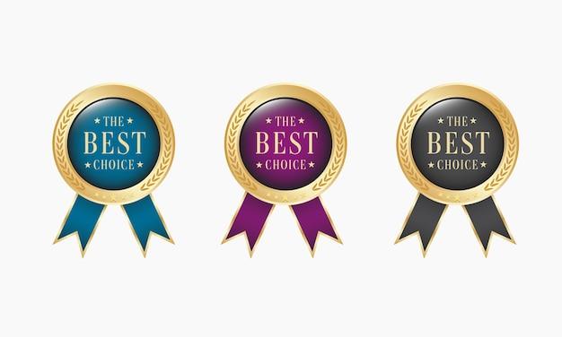 Set medaglia d'oro realistica scelta migliore