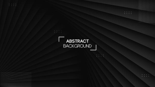 Realistico sfondo nero con stile geometrico
