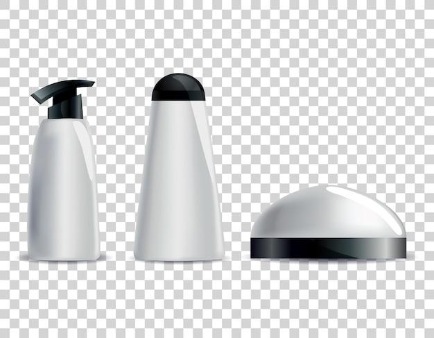 Illustrazione di tubi cosmetici in bianco realistico