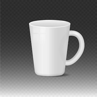 Realistico vuoto bianco e nero tazza da caffè tazze contenitore per bevande calde tazza classici utensili in porcellana