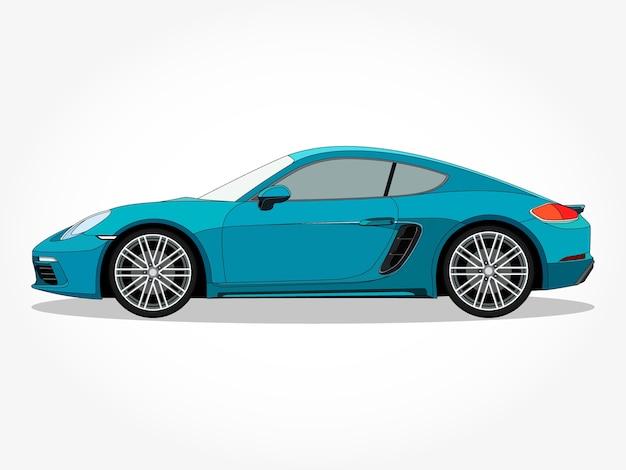 Auto blu realistico con dettagli