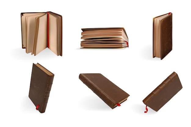 Set di libri realistici.