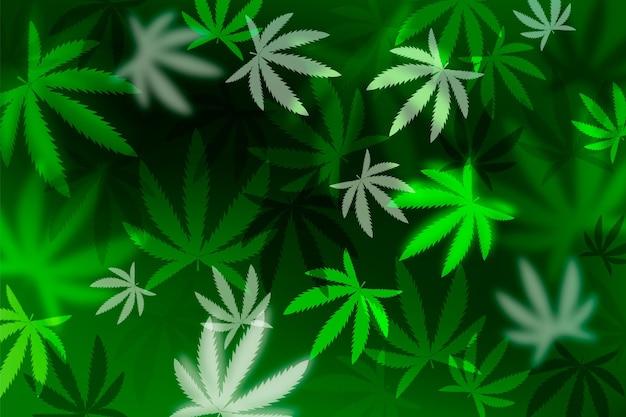 Sfondo realistico foglia di cannabis