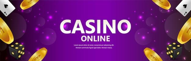 Gioco d'azzardo realistico con moneta d'oro