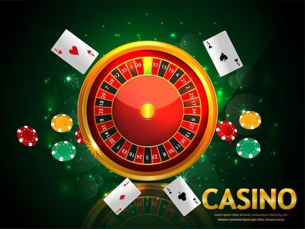 Sfondo realistico del gioco d'azzardo online del casinò