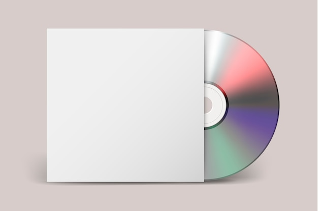 Icona di copertina realistica cdwith. modello.