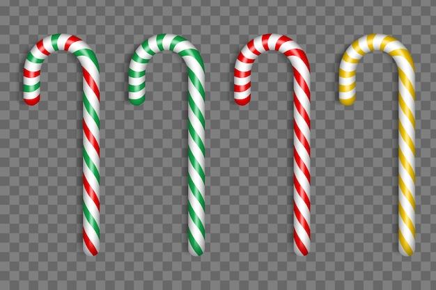 Collezione di caramelle natalizie realistiche