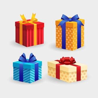 Collezione di regali di natale realistici