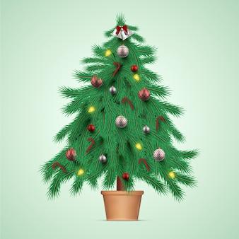 Illustrazione realistica dell'albero di natale