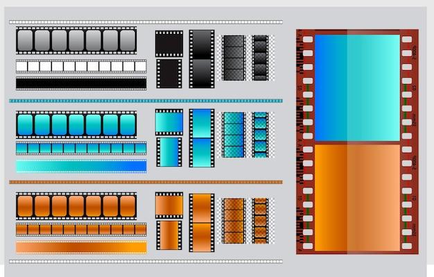 Ciak cinema realistico isolato o pellicola cinematografica tipo 35mm