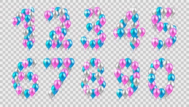 Palloncini colorati realistici