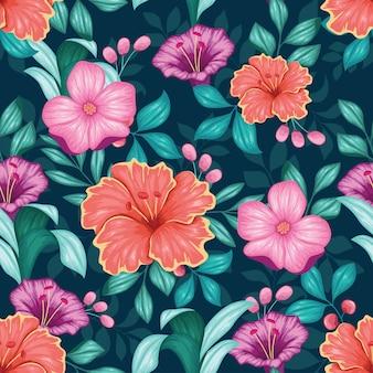 Realistico colorato floreale senza soluzione di continuità
