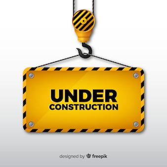 Fondo in costruzione realistico del segno