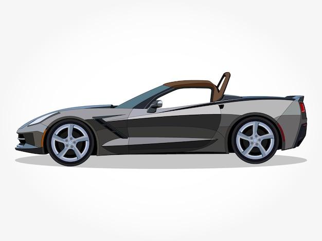 Auto convertibile realistica con dettagli