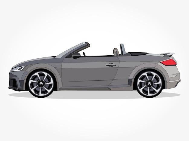 Auto convertibile e realistica, con dettagli