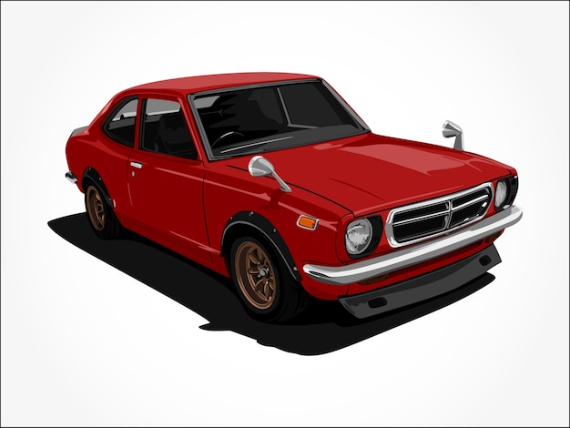 Arte di dettaglio di auto rossa fresca realistica