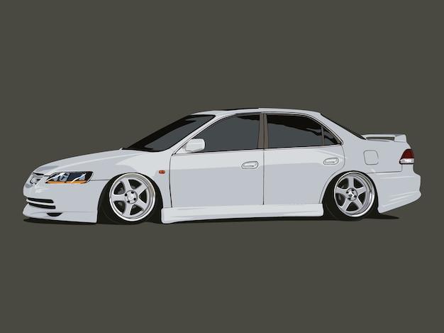 Dettaglio auto bianco freddo realistico