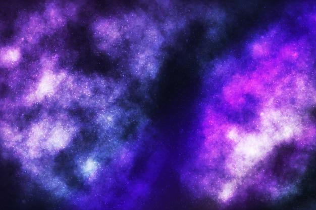 Sfondo galassia cosmica realistico. concetto di spazio, nebulosa e cosmo.