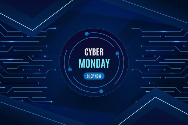 Sfondo realistico di cyber lunedì