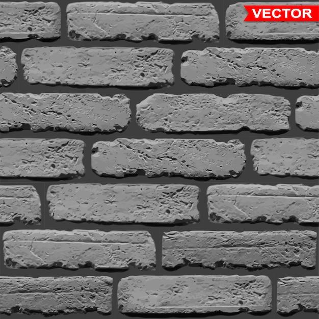 Fondo grigio scuro realistico di struttura del muro di mattoni
