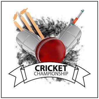 Concetto di design realistico del torneo di cricket