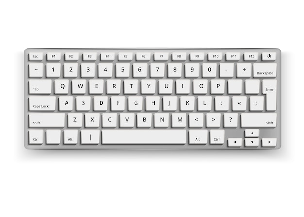 Tastiera desktop realistica